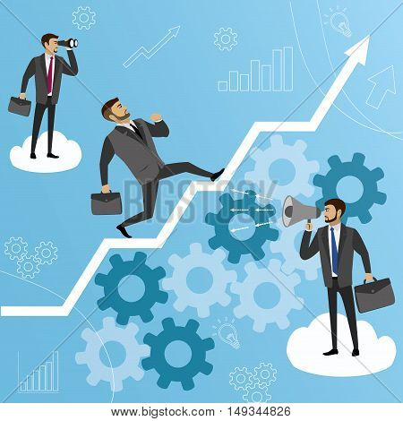 Business Management Training or consulting concept, vector stock illustration