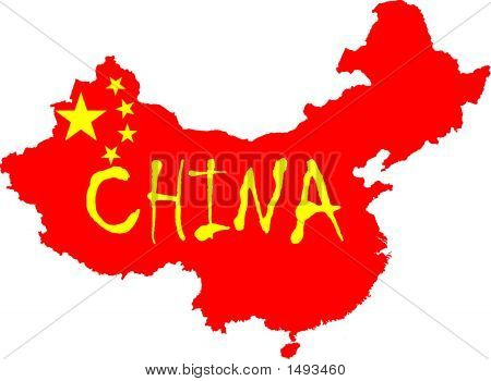 China Flag Map