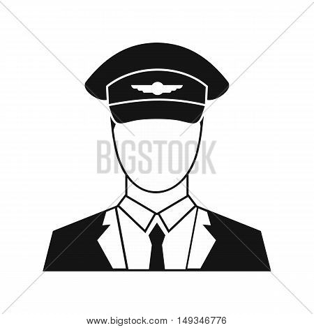 Pilot icon in simple style on a white background vector illustration