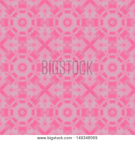Abstract geometric seamless background. Regular concentric circles pattern in pink and violet shades and light gray.