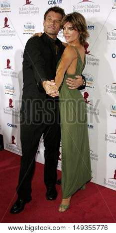 Harry Hamlin and Lisa Rinna at the 'Runway For Life' Benefiting St. Jude Children's Research Hospital held at the  Beverly Hilton in Beverly Hills, USA on September 15, 2006.
