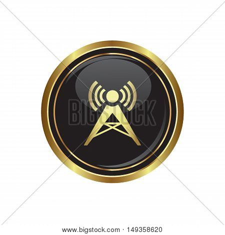 Wireless icon on the button. Vector illustration