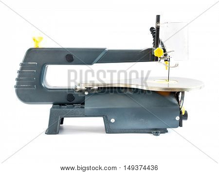 Side view of scrollsaw shot on white background