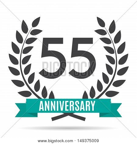 Template 55 Years Anniversary Vector Illustration EPS10
