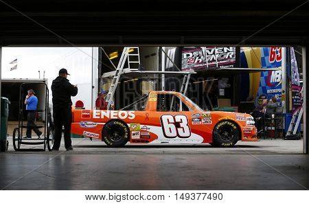 Loudon, NH - Sep 23, 2016: Akinori Ogata (63) practices for the UNOH 175 at the New Hampshire Motor Speedway  in Loudon, NH.