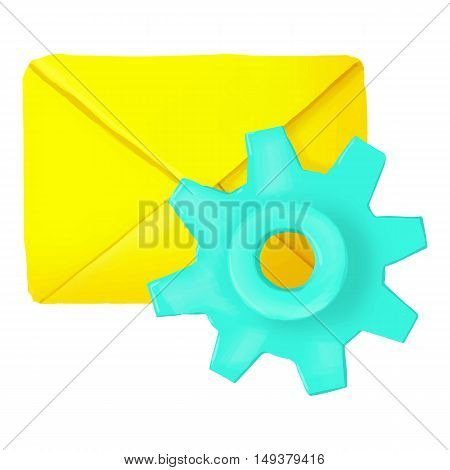 Settings of letters icon in cartoon style isolated on white background. Communication symbol vector illustration