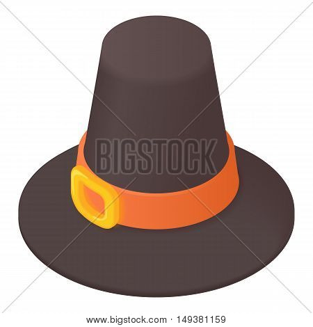 Gentlemans hat icon in cartoon style isolated on white background. Headdress symbol vector illustration