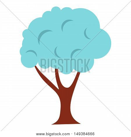 Tree in snow icon in flat style isolated on white background. Flora symbol vector illustration