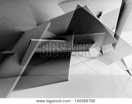 Chaotically Polygonal Structure Installation. 3D