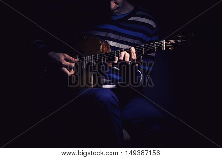 Guitar Player And Gypsy Guitar
