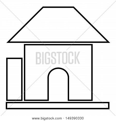 Childrens playhouse icon in cartoon style isolated on white background. Play symbol vector illustration