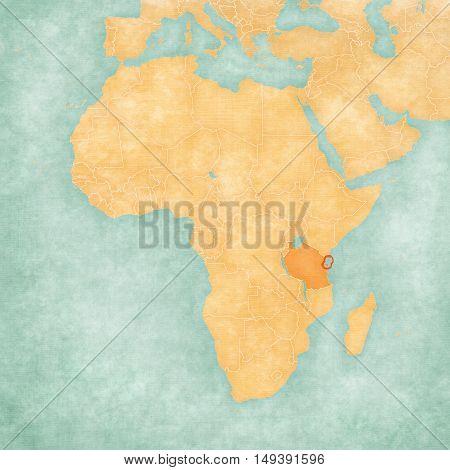 Map Of Africa - Zanzibar