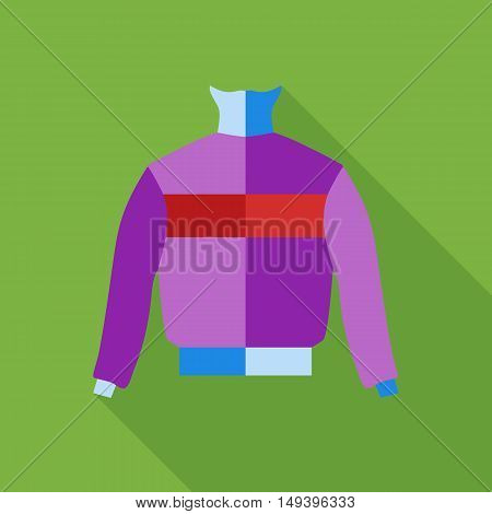 Winter warm jumper icon in flat style isolated with long shadow vector illustration