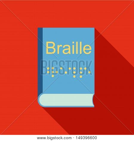 Blindness, Braille writing system icon in flat style isolated with long shadow vector illustration