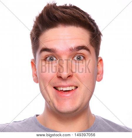 Twenty something smiling brown haired man headshot