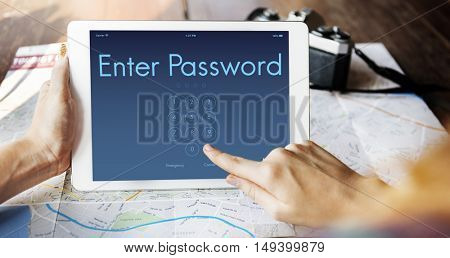 Access Identification Password Passcode Graphic Concept