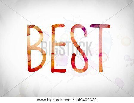 Best Concept Watercolor Word Art