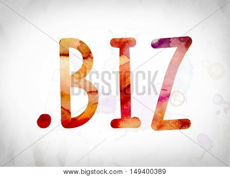 .biz Concept Watercolor Word Art