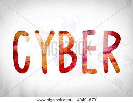 Cyber Concept Watercolor Word Art