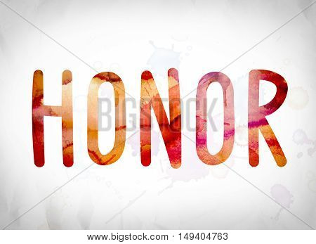 Honor Concept Watercolor Word Art