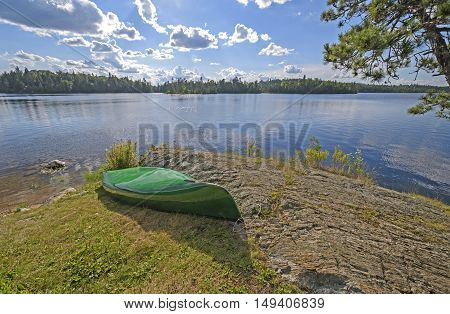 Late Afternoon in Camp on Saganagons Lake in Quetico Provincial Park in Ontario