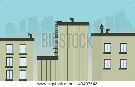 Illustration vector of building landscape collection stock
