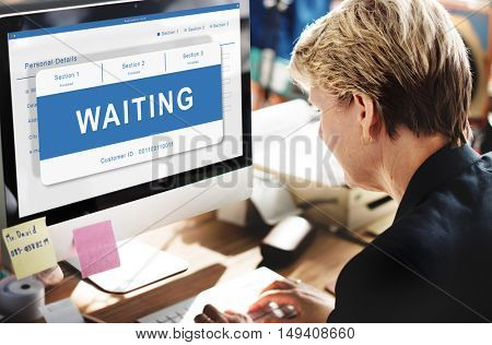 Waiting Entry Pending Approved Reject Concept poster