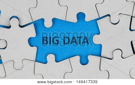 Big data and puzzle background