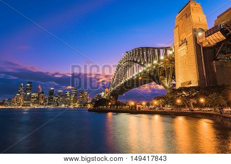 Sydney Harbour Bridge Sydney Australia at sunset