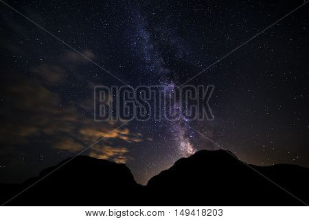 View of the stars with the Milky Way galaxy at night