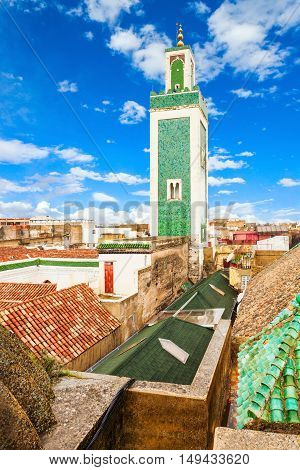 The Madrasa Bou Inania is a madrasa in Meknes Morocco. Madrasa Bou Inania is acknowledged as an excellent example of Marinid architecture located in Meknes Morocco. poster