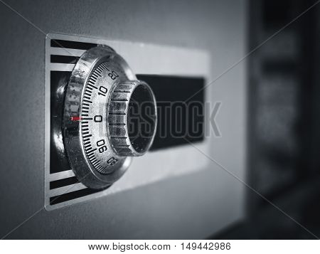 Safe lock code on safety box bank Protection