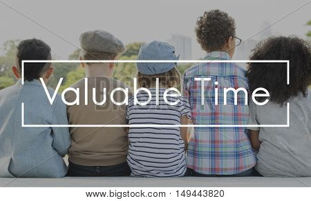 Valuable Time is Money Chance Opportunity Pleasure Concept