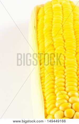Grains of Ripe Corn with Water Droplets