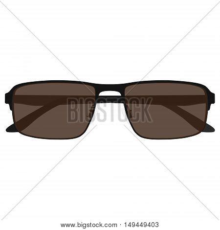 Vector illustration sunglasses model isolated on white background. Man sunglasses. Fashion sunglasses