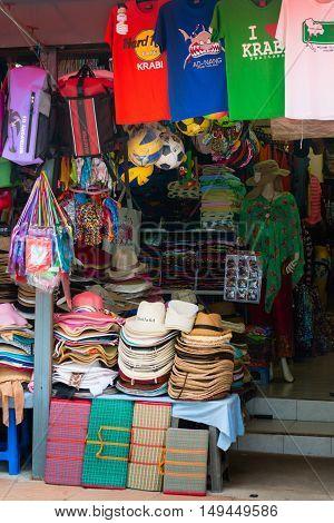 Tourist Souvenir Shop In Krabi, Thailand.