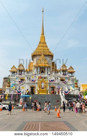 Main Temple Structure Of Wat Traimit, Home To The Famous Golden Buddha.