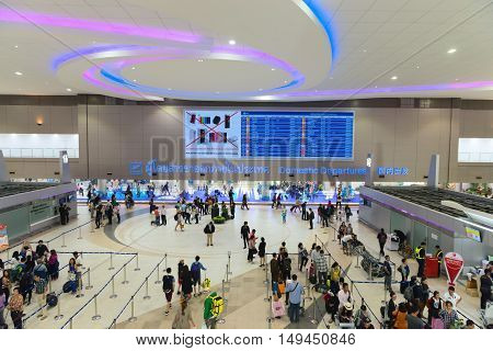 Domestic Departures Area Of Don Mueang International Airport In Bangkok, Thailand.