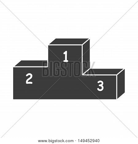 Pedestal icon. Pedestal Vector isolated on white background. Flat vector illustration in black. EPS 10