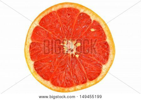 Red Grapefruit isolated on a white background.