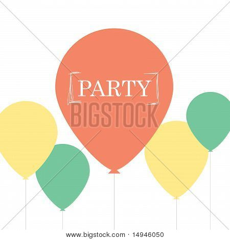 Minimalist Party Card Design