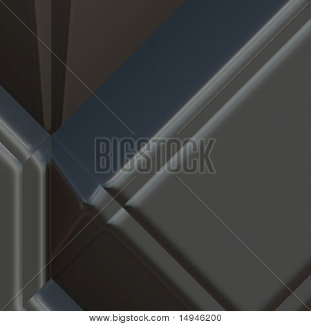 3d geometric abstract metallic surface background texture poster