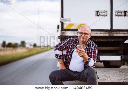 Checking His Mobile