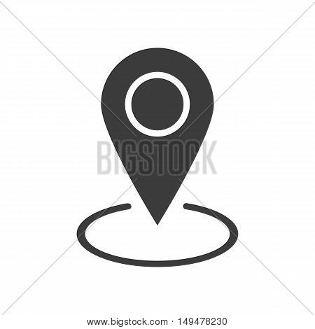 Gps Icon. Gps Vector Isolated On White Background. Flat Vector Illustration In Black. Eps 10
