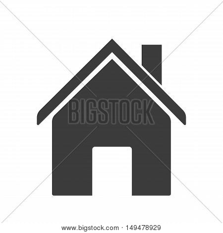 House Chimney And Door Icon. House Chimney And Door Vector Isolated On White Background. Flat Vector