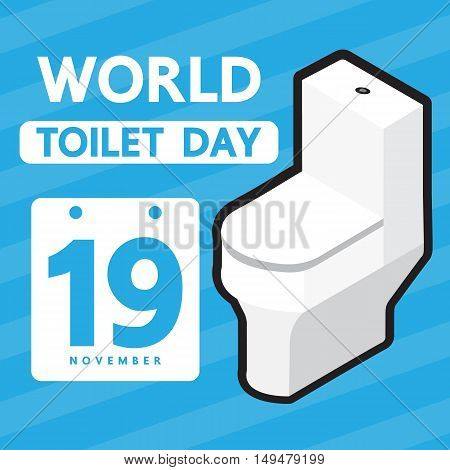 World toilet day vector design foe event.