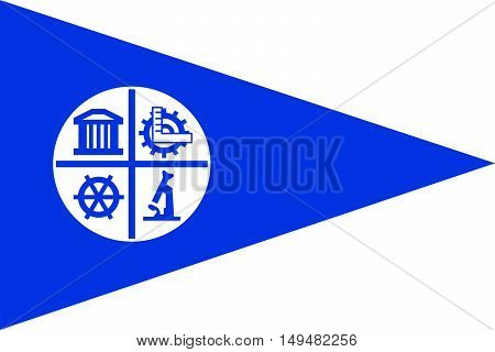 Flag of Minneapolis is the county seat of Hennepin County in Minnesota of United States