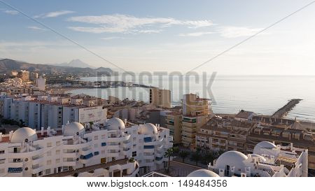 El Campello - October 3 2015: Early morning on ipanskom tourist Costa Blanca 3 October 2015 El Campello Costa Blanca Spain