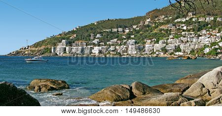 Clifton, With Boulders In Fore Ground, Cape Town South Africa 01v