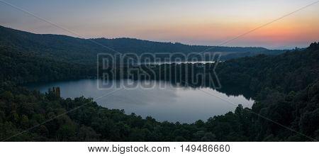 Monticchio Lakes on Mount Vulture (Basilicata Italy)